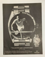1978 Rolex Oyster Day-Date Chronometer Watch John Newcombe Print Ad Original