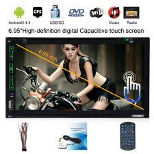 "Doppel 2Din 6.95"" Android 4.4 Autoradio Auto GPS NAVI DVD Player BT RDS USB WIFI"