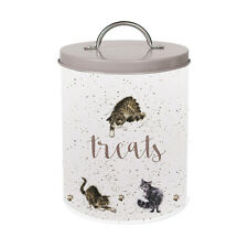 Wrendale Cat Treat Tin Storage Container