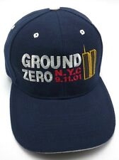GROUND ZERO N.Y.C. 9.11.01 blue adjustable cap / hat