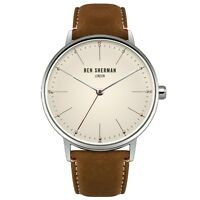 Ben Sherman WB009T Mens Portobello Touch Brown Leather Strap Watch RRP £50