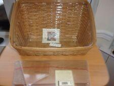 Longaberger Large Desktop Basket With Protector And Divider Set