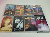 Country Cassette Tape Lot Randy Travis Reba Statler Bros Ray Stevens Sheena