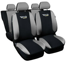 Full set car seat covers fit Volkswagen Passat B5 black/silver seat cover