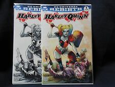 Harley Quinn Rebirth #1 Sketch and Color Set from 2016 NYCC