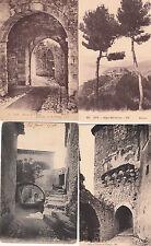 Lot 4 cartes postales anciennes EZE le village 3