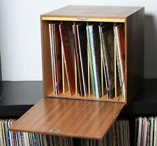 Vintage Mid-Century Schallplatten Ständer Regal Schrank BOX Aufbewahrung 60er