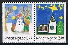 Noorwegen postfris 1990 MNH 1057-1058 - Kerstmis / Christmas