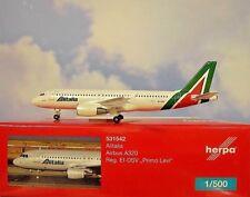 Herpa Wings 1:500 Airbus A320 Alitalia EI-DSV Primo Levi 531542 Modellairport500
