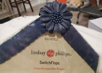 Lindsay Phillips Switchflops Straps Blue Flower Size Small