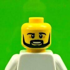 LEGO Male Minifig Head Black Beard, Angular, Pupils Teeth (x1) City Town
