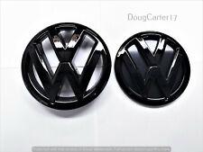 VW POLO 6R GLOSS BLACK 2011 - 2013 BADGE/EMBLEM/LOGO FOR BONNET & BOOT OEM FIT