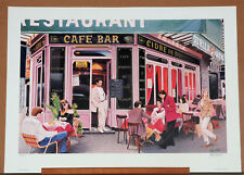 "Keith Malleth ""Sidewalk Cafe"" Limited Edition Signed Lithograph 1991 Art"