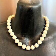 Vintage Ivory-Coloured Beaded Choker Necklace, 41cm  Silk Knots