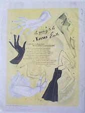 1941 Kayser women's black slip lingerie Hosiery stockings legs gloves ad