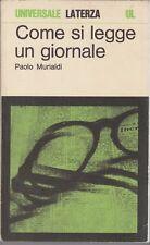 Murialdi, Come si legge un giornale, Laterza, Universale Laterza, 1976,