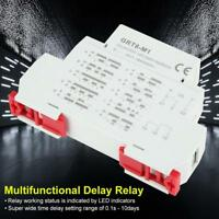 GRT8-M1 AC/DC 12V~240V High Quality Delay Time Relay w/10Functions DIN Rail ACI