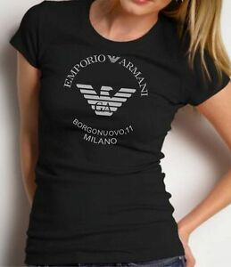 EMPORIO ARMANI Black Borgonuovo,11 Designer T-shirt Size S, M