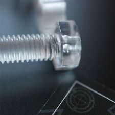 Paquete de 30 tornillos y tuercas transparentes, de plástico acrílico.M8 x 60mm