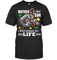 Autism Awareness T-Shirt Mother And Son Bestfriend For Life Unisex Tee