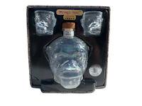 Monkey Head Vodka Bottle & Shot Glasses Original Package Empty 750ml Glass