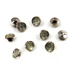 GOLD ROUND SEW ON BUTTONS HABERDASHERY SEWING CARDIGANS - UK SELLER