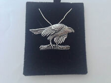 B2 Hawk on a 925 sterling silver Necklace Handmade 26 inch chain