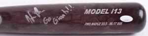"HELIOT RAMOS Signed Game-Used MAX Bat Baseball Bat w/ ""Go Giants!!"" (JSA COA)"
