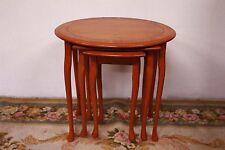 Tris tavolini in legno estraibili, tavoli a nido originali inglesi anni '80