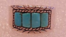 Carolyn Pollack Retired Turquoise Sterling Silver Ring Sz 8