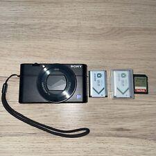 Sony Cyber-shot DSC-RX100 IV 4K Digital Camera - Black W/ Extra Battery & SD