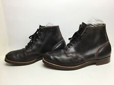 VTG MENS RED WING 30'S WORK DARK BROWN BOOTS SIZE 12 E