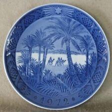 Vintage Ceramics - Royal Copenhagen Christmas Plate 1972 The Holidays - Denmark