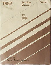 1982 Dodge Ram Van Wagon & Voyager Factory Service Manual B150 B250 B350 Repair