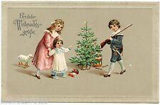 Sapin de Noël  .Jouets anciens . Enfants . Christmas tree . Old toys . Children