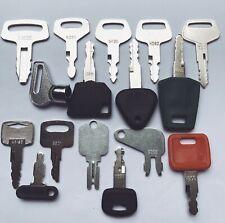 16 Keys Heavy Equipment Construction Ignition Key Set Cat Deere Kubota Volvo