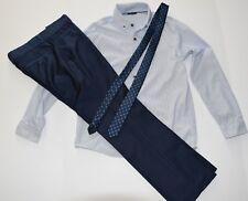 British boutique NEXT pants shirt polka dot tie lot set boys 10 Holiday Picture