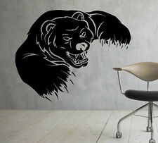 Grizzly Bear Wall Decal Vinyl Sticker Wild Animals Interior Art Decor (3bgr1)