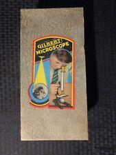 "1954 GILBERT 60/200/325 9"" Parafocalized Microscope in Original Box & Booklet"