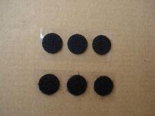 Pastille scratch bande agrippante diamètre 13mm noir adhésif - lot de 50 pièces
