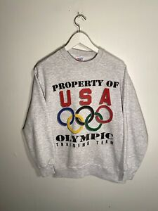 Vintage Usa Olympic Training Team Sweatshirt Size Youth L