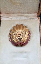 Romania  order medal badge  Labour 3 cl  Romanian  box RPR