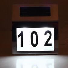 Modern Solar Powered Led Illuminated House Door Number Light house number Sign