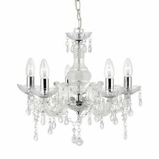Funkelnder 5-Flammiger Araña de Cristal Transparente - Marie Therese Led