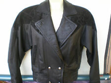 (Size XS) Wilson's Black Leather Womens Motorcycle Biker Jacket Thinsulate Liner
