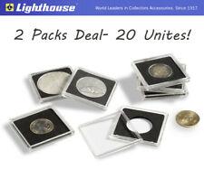 20 Lighthouse Quadrum 33mm Square 2x2 Coin Capsules Holders Gold American Eagle
