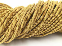 3 mm diame gold Colors Twisted Rope Three Strands Cord Barley twist trim rope