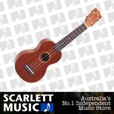 Mahalo Soprano Ukulele Java Series Brown Strung with Aquila Strings + Carry Bag