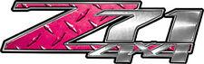 "Chevy Silverado Z71 4x4 Truck Decals Diamond Plate Pink 13"" REFLECTIVE 050"