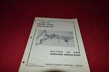 Massey Ferguson Harris 28 Trash King Cultivators Operator's Manual Yabe8